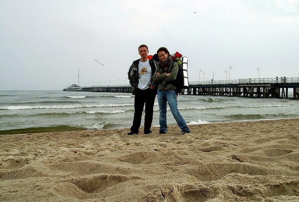 Nasza rocznica na sopockiej plaży