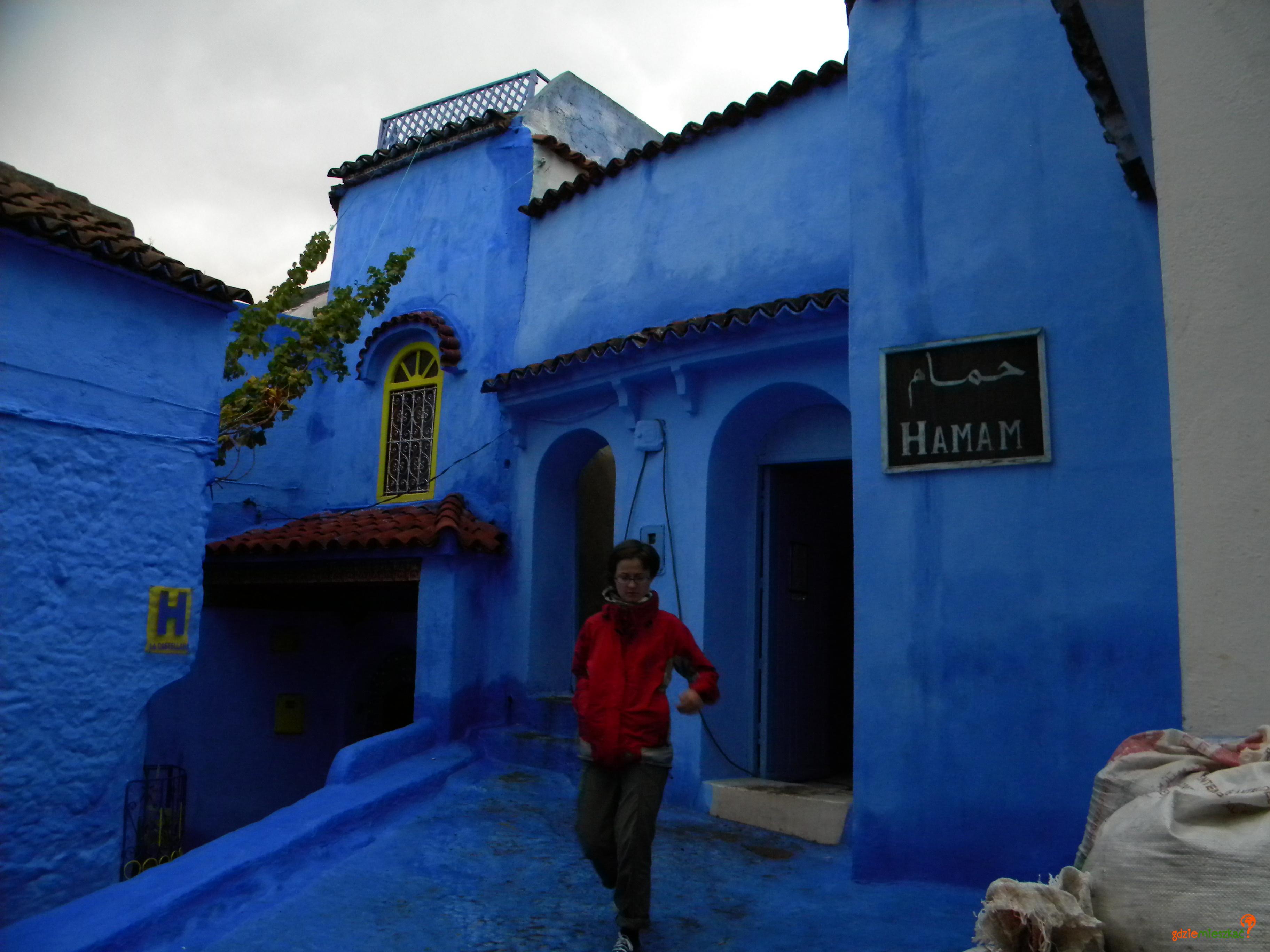 W marokańskim Szafszawanie można też zwiedzić łaźnie (hamam)