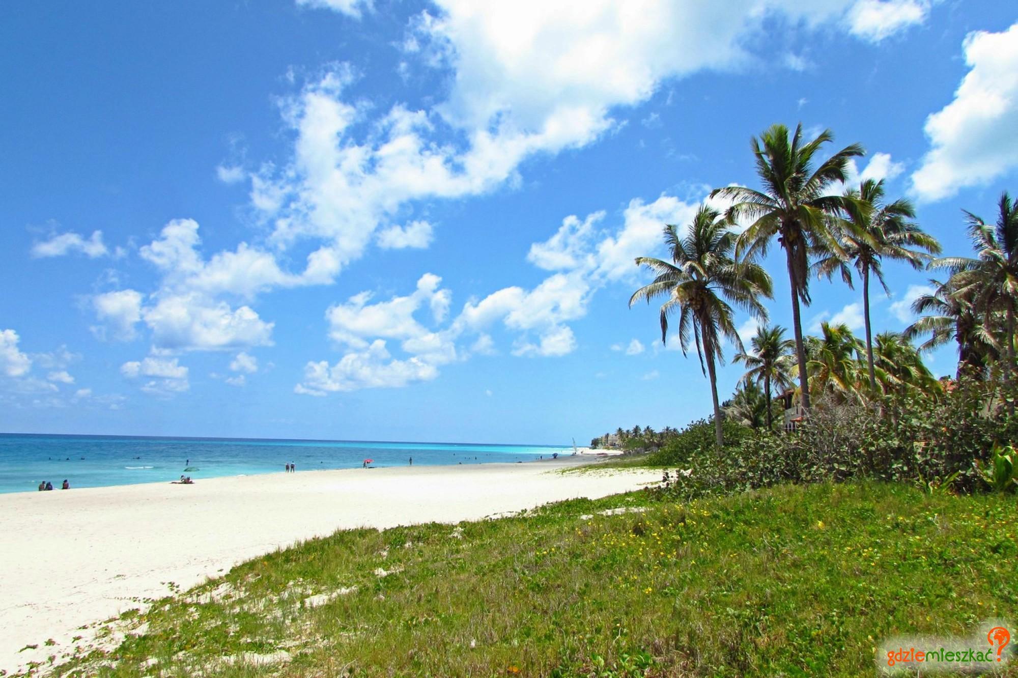 palmy i białe plaże